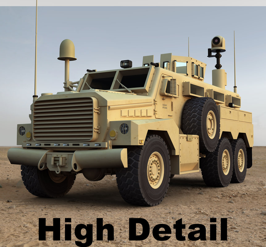 3d cougar 6x6 military model