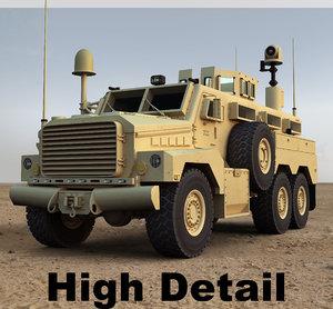 3d cougar 6x6 military model