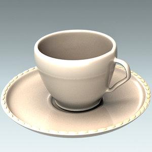 turk cup coffe 3d max