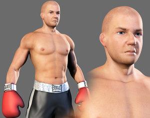 3dsmax male boxer