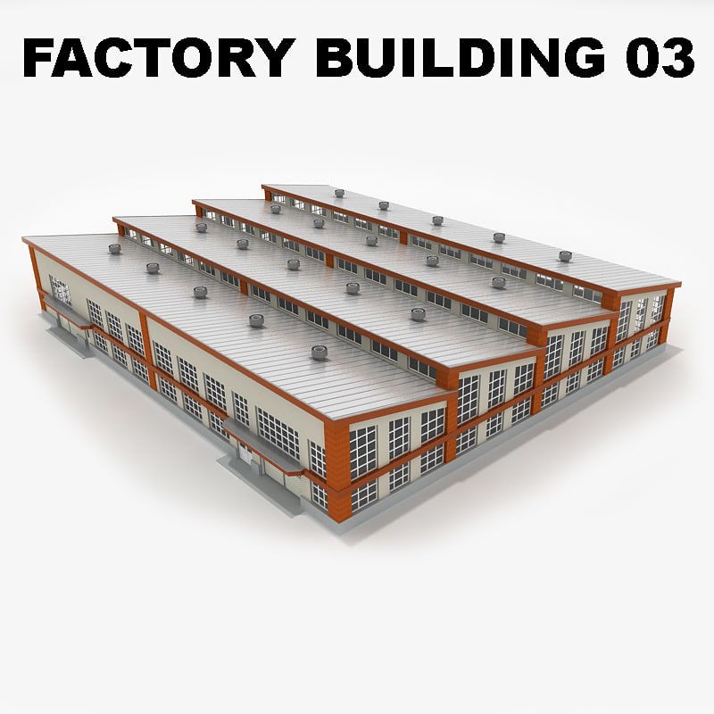 factory building 03 obj
