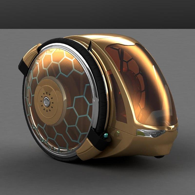 3d 2 car concept model