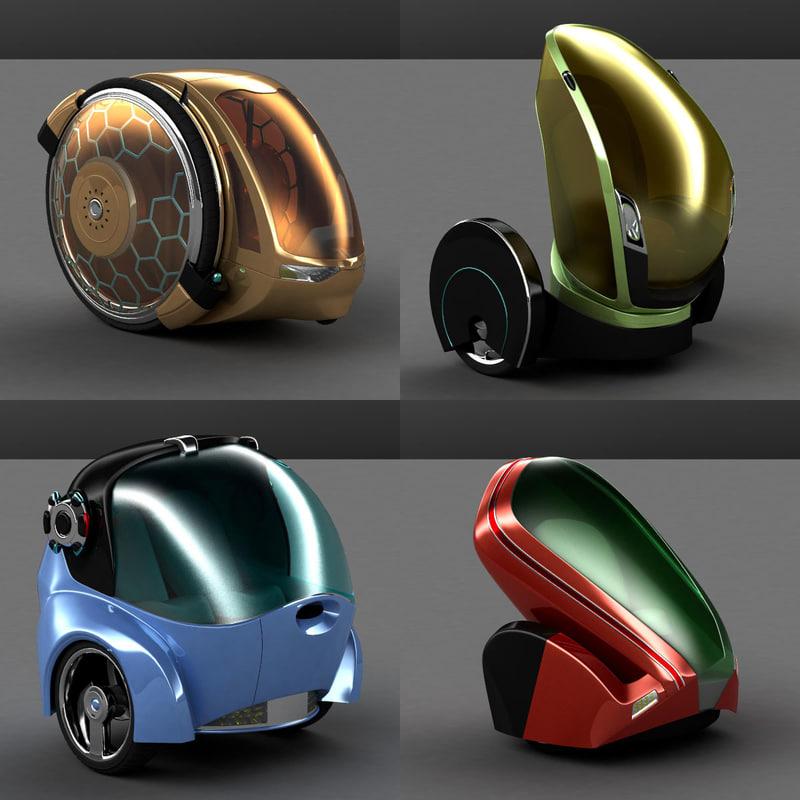 futuristic cars 3d max
