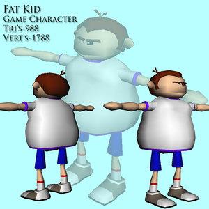 3d fat kid