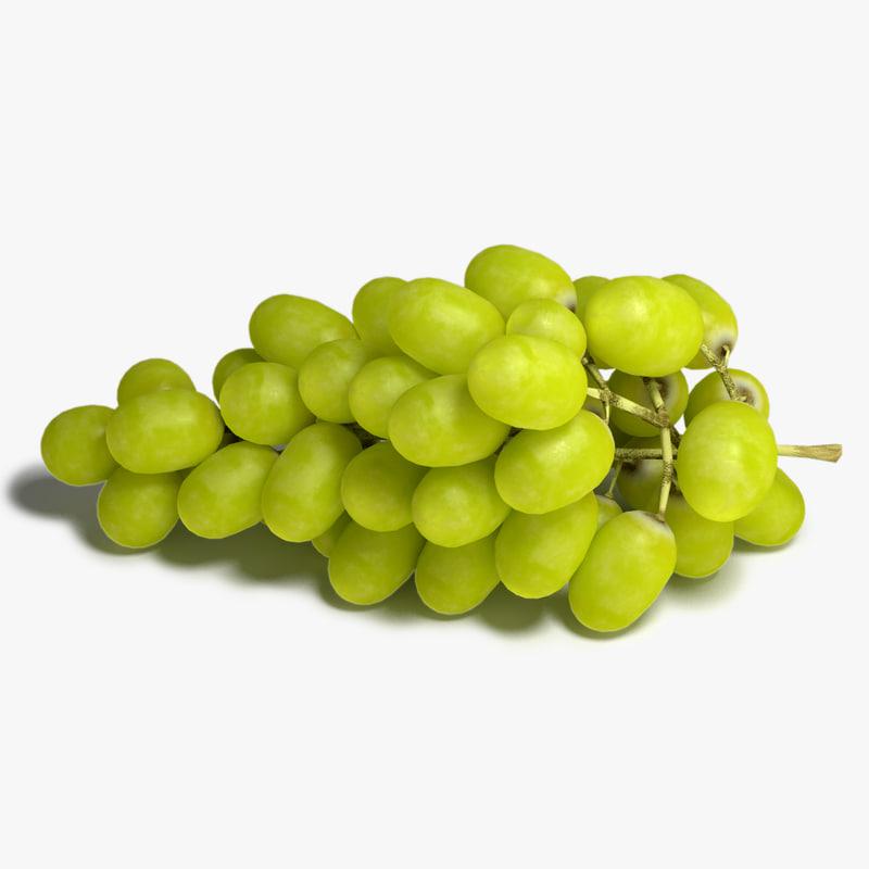 grapes 3d max