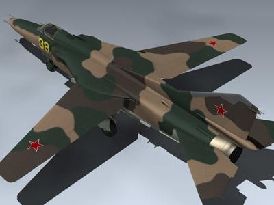 soviet mig-27m 3d model