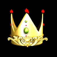 crown queen 3d model