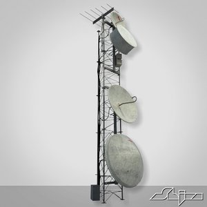tower antenna 3d max
