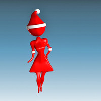 3ds max santa claus girl female woman