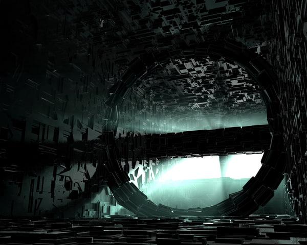 sci-fi room ship 3d model