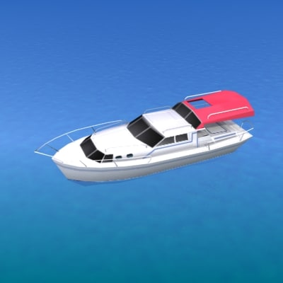 ship yacht 3d model