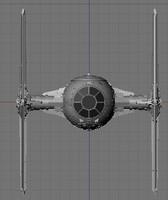 tie fighter 3d model