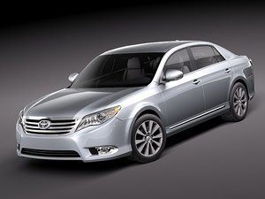 toyota avalon 2011 luxury 3d model
