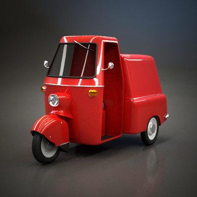 tuk-tuk pickup 3d 3ds