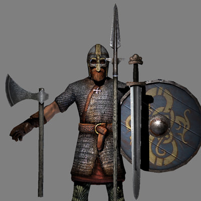 3d viking warrior