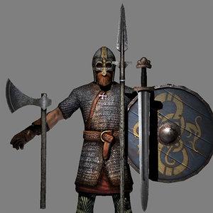 3d viking warrior