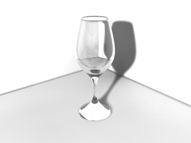 3ds white wine glass