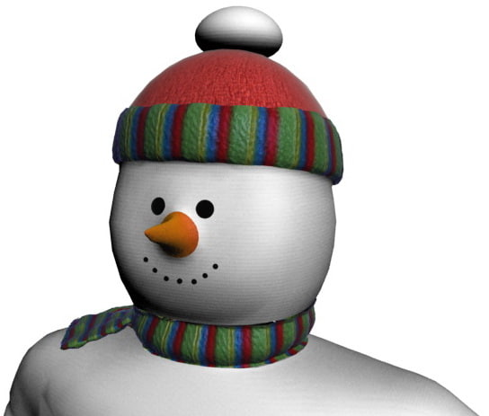 snowman biped materials 3d model