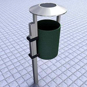 papelera trashbin 3d model