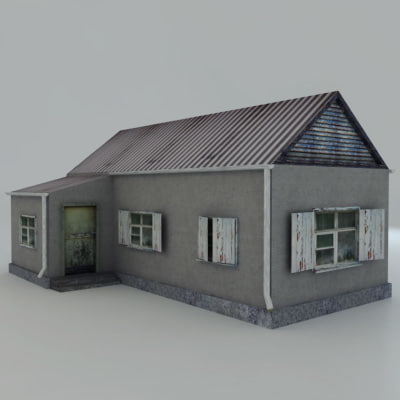 house rendering real-time 3d obj