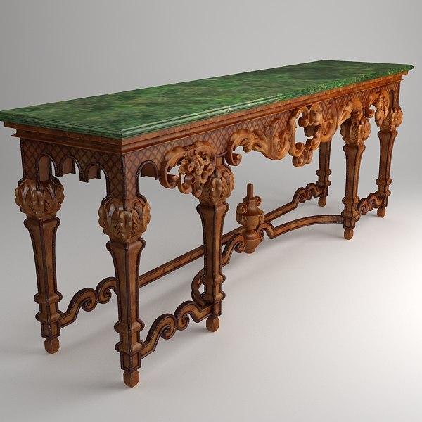 classical table 3d model