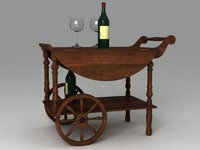 table wine 3d model
