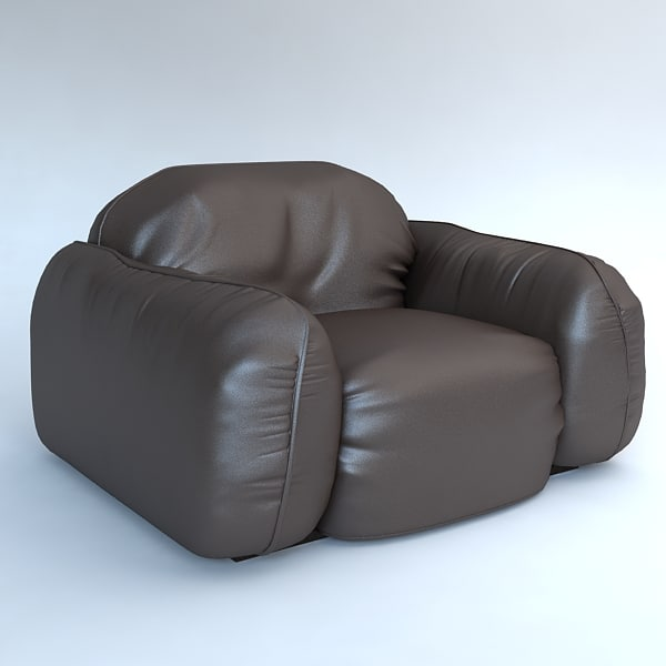 3d max armchair leather