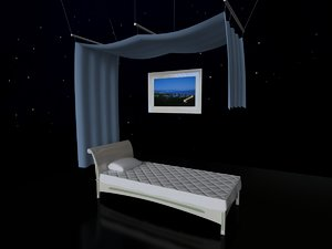 bed canopy 3d model