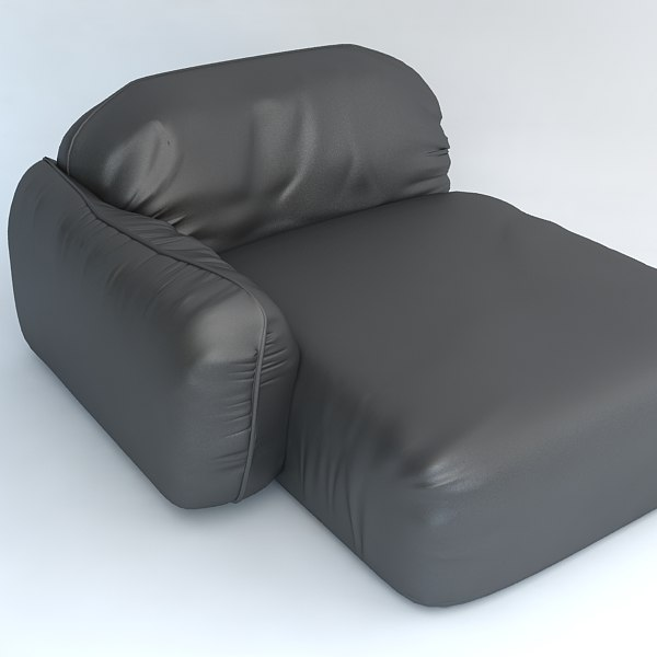 3d armchair leather model