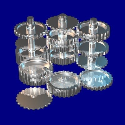3d 24 tooth gear set model