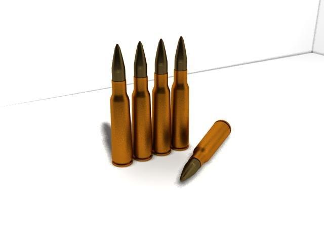 7 62mm bullet 3d max