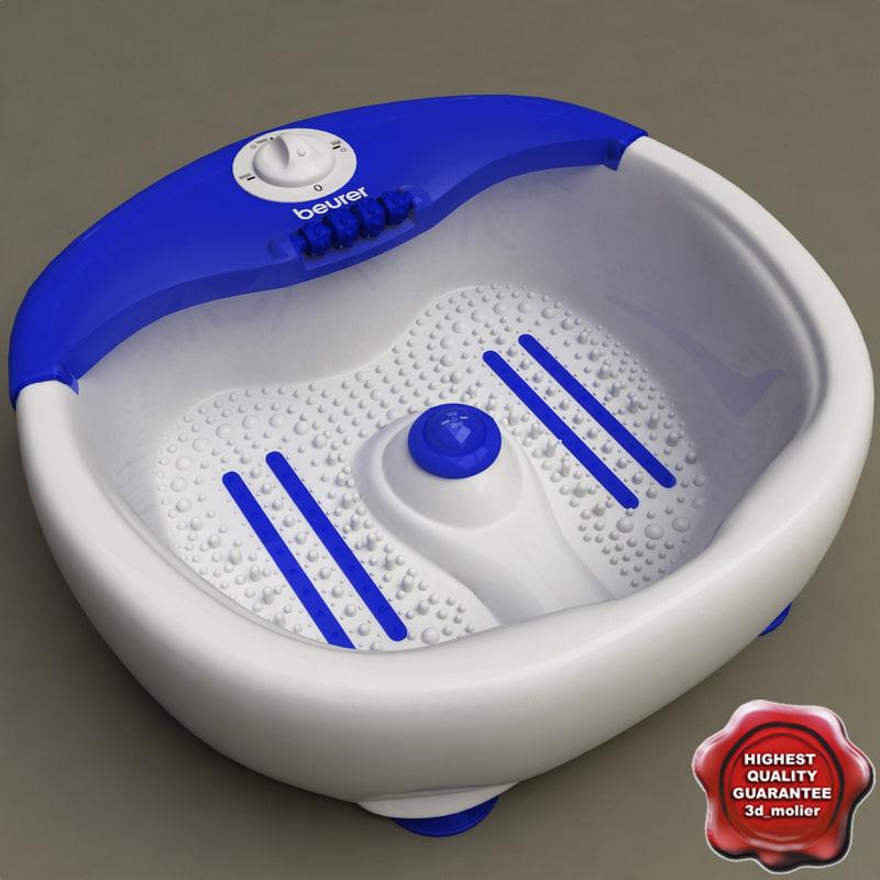 aqua foot massage spa 3d model