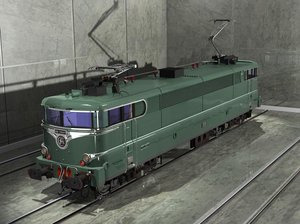 sncf green locomotive ma
