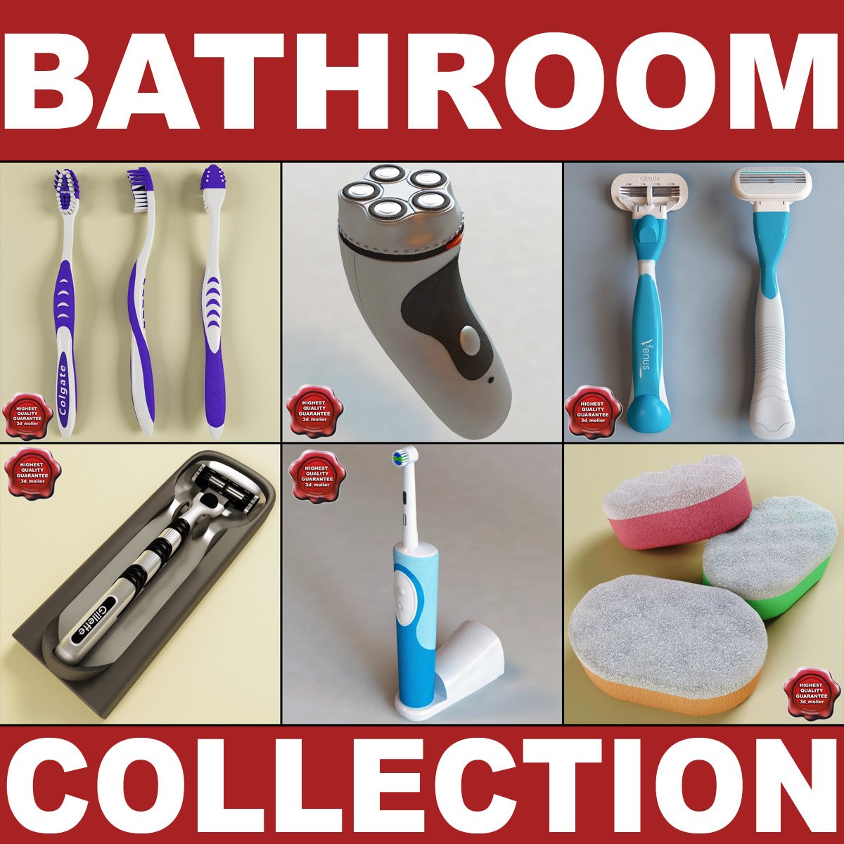 3dsmax bathroom accessories v2