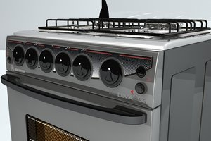 stove cocina 3d model