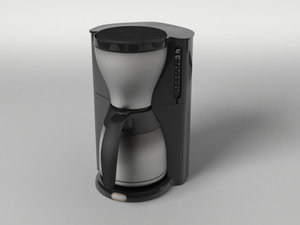 coffee machine 3d obj