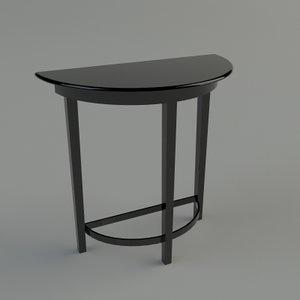 3d hall table - materials model