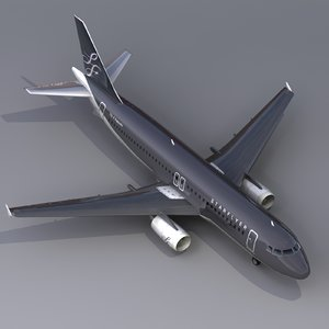 3d model of airbus a320 starflyer fly