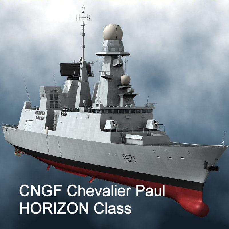 french horizon frigate 3d max