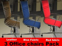 3 Office chairs pack