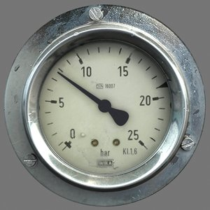 meter gauge industrial 3d model