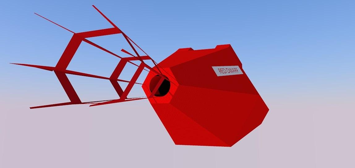free red dwarf 3d model