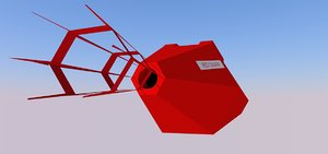 free red dwarf 3d model