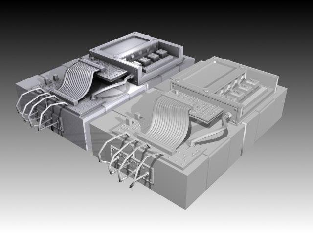 terrorist bomb - baked 3d model