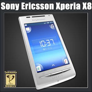 sony ericsson xperia x8 3d model