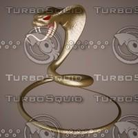 3d snake king cobra model