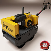 3d model vibratory road roller jvr-700