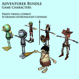3d adventurers character
