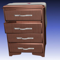 3d night table drawers dresser