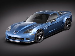 3ds max chevrolet corvette z06 2010
